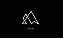 A Line Art Icon Logo Of A Minimal Mountain, Peak, Summit
