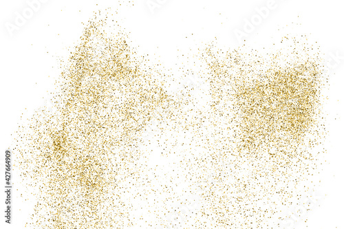 Canvas-taulu Gold Glitter Texture Isolated On White