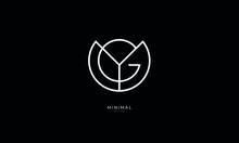 Alphabet Letter Icon Logo YG Or GY