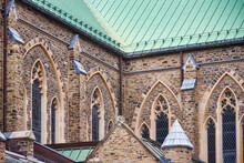 Gothic Revival Architectural Features Of Saint Paul's Anglican Church In Toronto, Canada