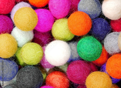 Canvas-taulu felt balls for sale as christmas ornaments