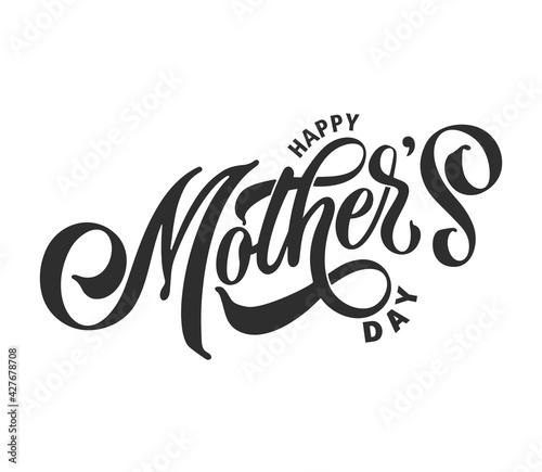 Slika na platnu Happy Mother's Day handwritten lettering