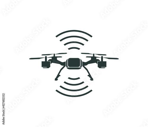 Fotografía drone icon vector isolated on white