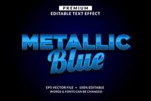Metallic Blue Premium Editable Text Effect Font Style