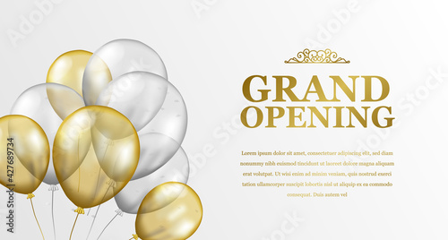 Slika na platnu Grand Opening Luxury Invitation Banner Background