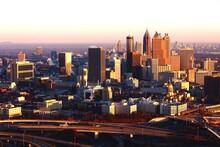 The Atlanta Skyline At Dawn