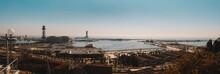 High Angle View Of Port