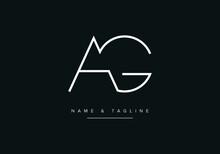 Abstract Alphabet Letter Logo Icon AG Or GA