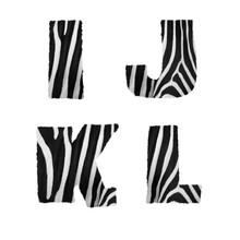 Zebra Fur Alphabet - Letters I-L