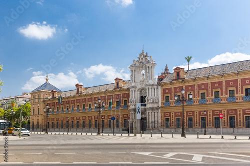 Obraz na plátně The Palace of San Telmo, in the center of Seville