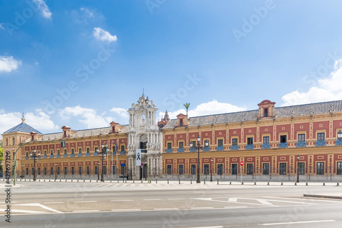 Fotografie, Obraz The Palace of San Telmo, in the center of Seville
