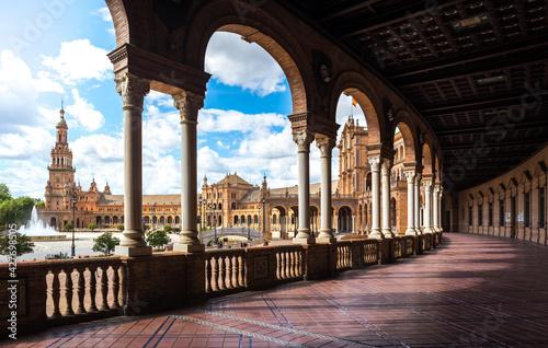 Fototapeta Spain Square. Sevilla Spain. obraz
