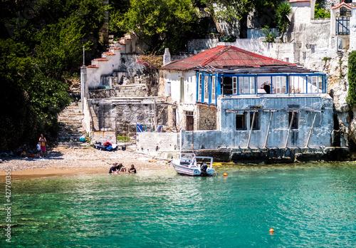 Obraz Greckie wakacje - fototapety do salonu