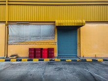 Yellow Entrance Of Building