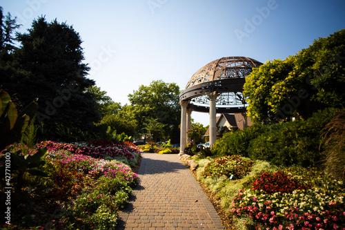 Fotografie, Obraz Sunken Gardens Flower Garden In lincoln Nebraska