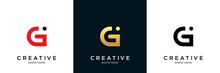 Initial Letter Gi Modern Linked Circle Round Lowercase Logo