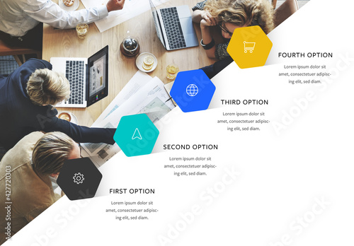 Business Infographic Layout with Icons