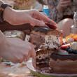 Tort czekoladowych zegarek boho