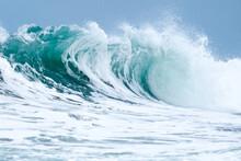 Wave Crashing In The Atlantic Ocean Off The Coast Of Florida.