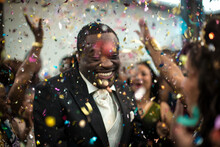 Happy Man At A Party