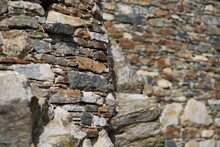 Old Stone Wall Detail For Background.