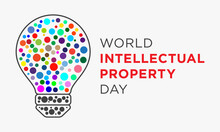Lightbulb Colorful Dots Design Vector. World Intellectual Property Day.