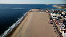 Aerial View Of Ocean City, Maryland Beach And Boardwalk