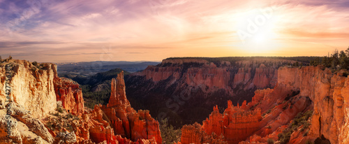 Fotografia Aerial panoramic view of the beautiful American Canyon Landscape