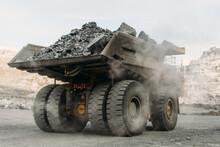 Komatsu 730e Dump Truck At A Gold Mining Site.