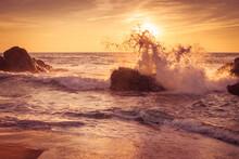 Rock In The Surf, Atlantic Ocean