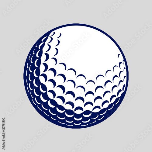 Fényképezés golf ball vector