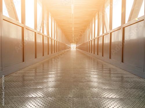 Canvas Print Empty Corridor Of Building