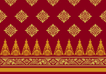 Indonesian Geometric Batik Motifs With Balinese Flower Patterns, Exclusive And Classic, Are Suitable For Various Purposes. EPS VECTOR 10