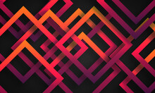 Abstract Colorful Stripe With Dark Background