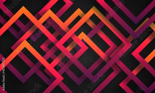 Fotografia, Obraz Abstract colorful stripe with dark background