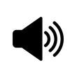 Leinwandbild Motiv soun,audio media icon isolated on white background