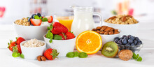 Healthy Breakfast Strawberry Yogurt Fruit Bowl Pot Eating Yoghurt Food Banner