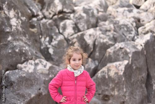 Fotografia, Obraz Ritratto di una bambina di cinque anni molto bella e dolce.
