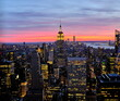 New York At Sunset Seen From Top Of The Rock