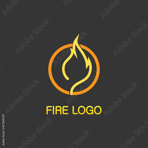 Fotografie, Obraz fire logo and icon, hot flaming element Vector flame illustration design energy,