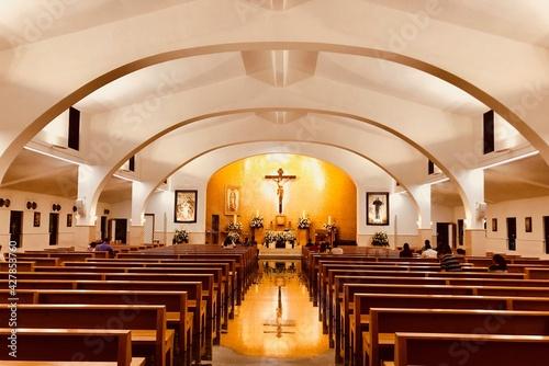 Inside A Fancy Church