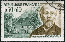 FRANCE - 1965: Shows Hippolyte Adolphe Taine (1828-1893) And Birthplace, Red Cross Issued, 1965