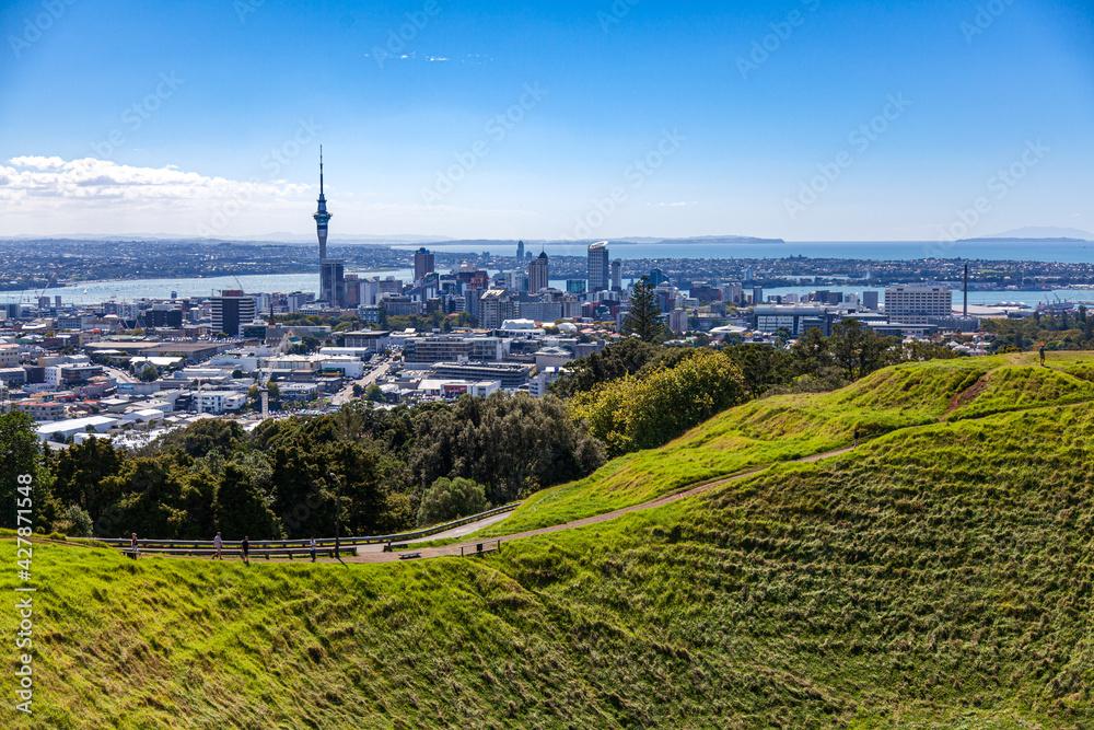 Fototapeta Auckland panorama miasta z Mt. Eden
