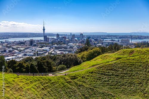 Fototapeta Auckland panorama miasta z Mt. Eden obraz