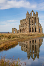 Whitby Abbey Reflected In The Lake