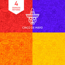 Line Cinco De Mayo Patterns
