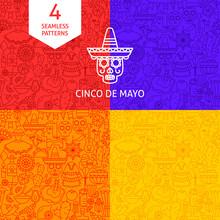 Line Cinco De Mayo Patterns