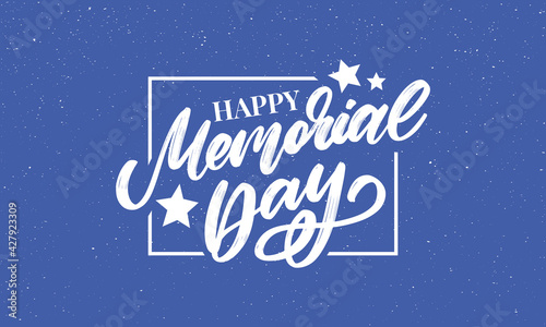 Obraz na plátně Happy Memorial Day - Stars and Stripes Letter