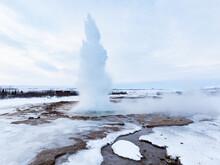 The Genie Of The Strokkur Geyser    Iceland