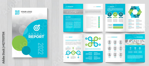 Fototapeta Corporate Annual Report with a cover. Brochure, Folder, Presentation, Leaflet. A4 format. obraz